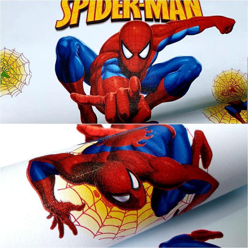 Wallpaper Dinding Motif Kartun Anak Spiderman Lucu Terlaris Termurah Terbaru Shopee Indonesia