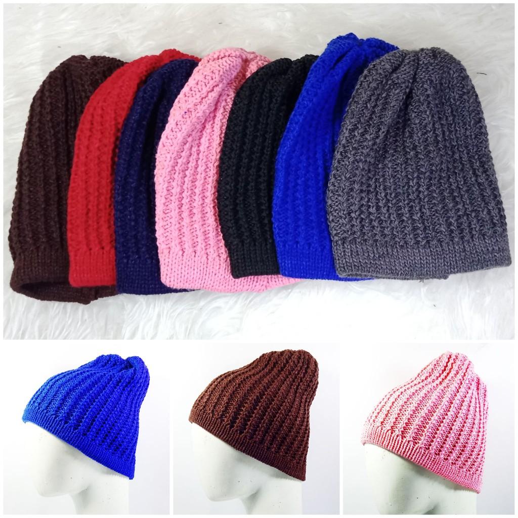 Aksesoris Fashion Pria Wanita  Topi Kupluk Beret Model Baggy Hangat untuk Musim  Dingin  0530dda75d