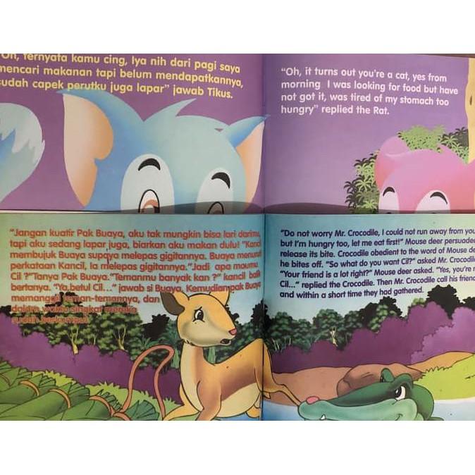 Upate Buku Cerita Anak Bergambar Seri Dongeng Binatang Bilingual Qr0228 Shopee Indonesia