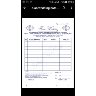 Jual Cetak Nota 2 Ply Plus Nomerator Limited