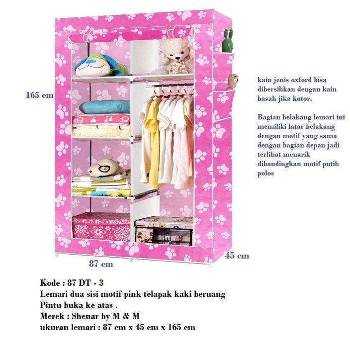 lemari 3 sisi ukuran 105cm x 45cm x 170cm buka atas Shenar by smile | Shopee