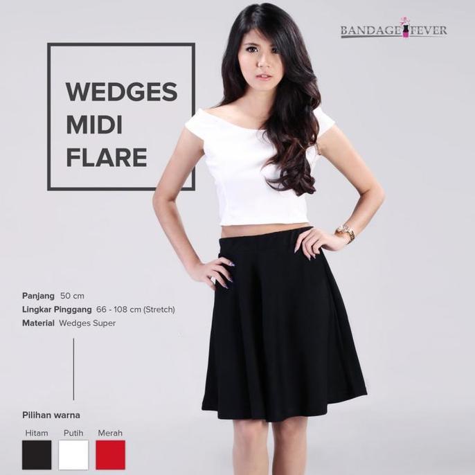 wedges+pakaian+wanita+rok+flare+skirt - Temukan Harga dan Penawaran Online Terbaik - Januari 2019   Shopee Indonesia