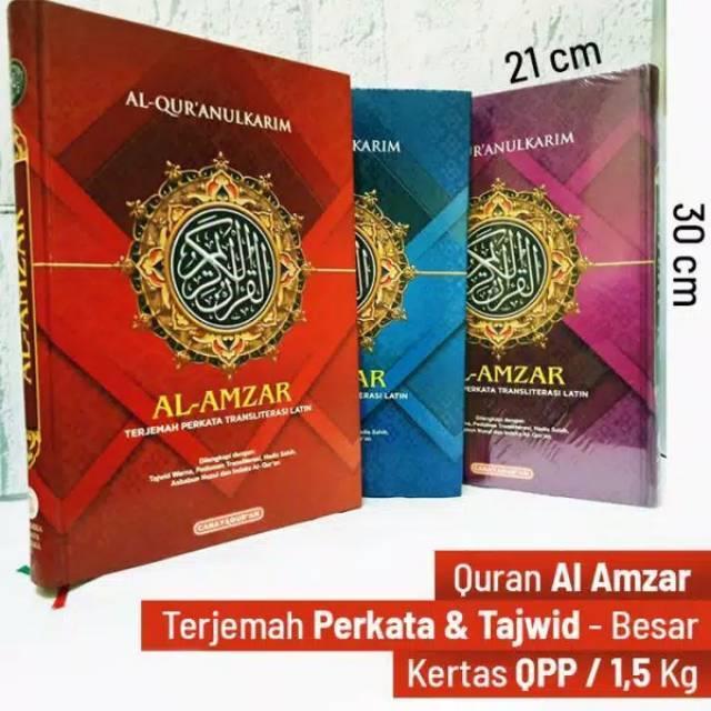 Al Qur'an Terjemahan PERKATA A4 Besar Al Amzar
