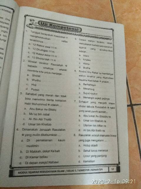 Lks Sejarah Kebudayaan Islam Khazanah Kelas 5 Shopee Indonesia