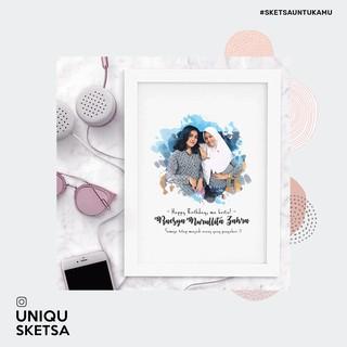 DESAIN EDIT FOTO SKETSA untuk Kado Wisuda, Hadiah Ulang ...