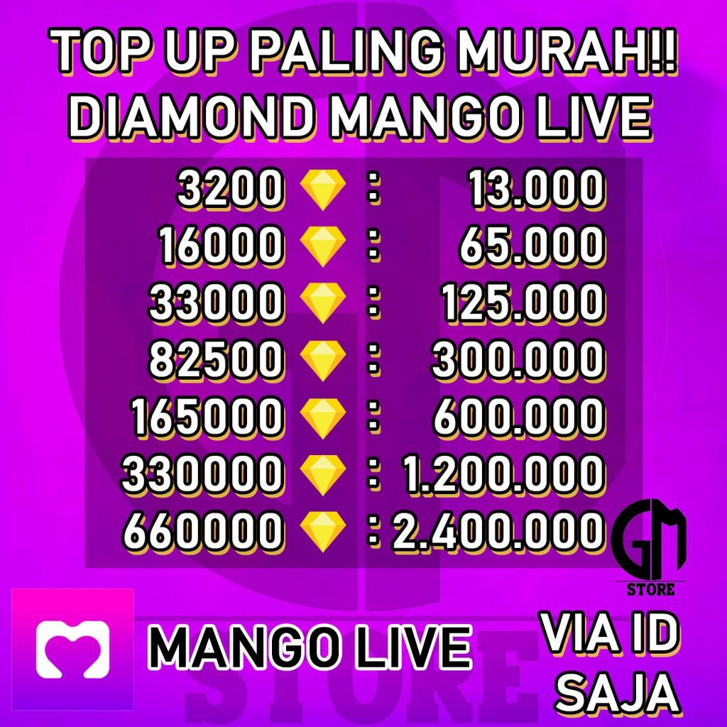 TOP UP MANGO LIVE 3200 - 19200 DIAMOND TOPUP MANGOLIVE UNGU PALING MURAH (1)