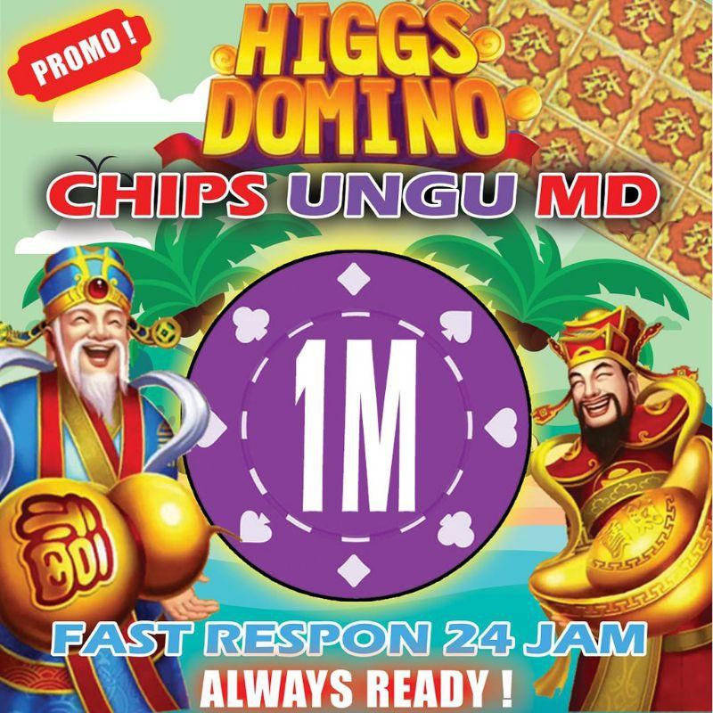 BIG PROMO KOIN MD 1M,CHIP MD HIGGS DOMINO / CHIP UNGU 1M HIGGS DOMINO ISLAND MURAH