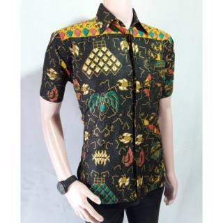 Kemeja Batik Lengan Pendek 048  Batik Pria Modern  Baju Kantor  Baju Resmi   Kemeja Murah  Batik Solo a275a22811