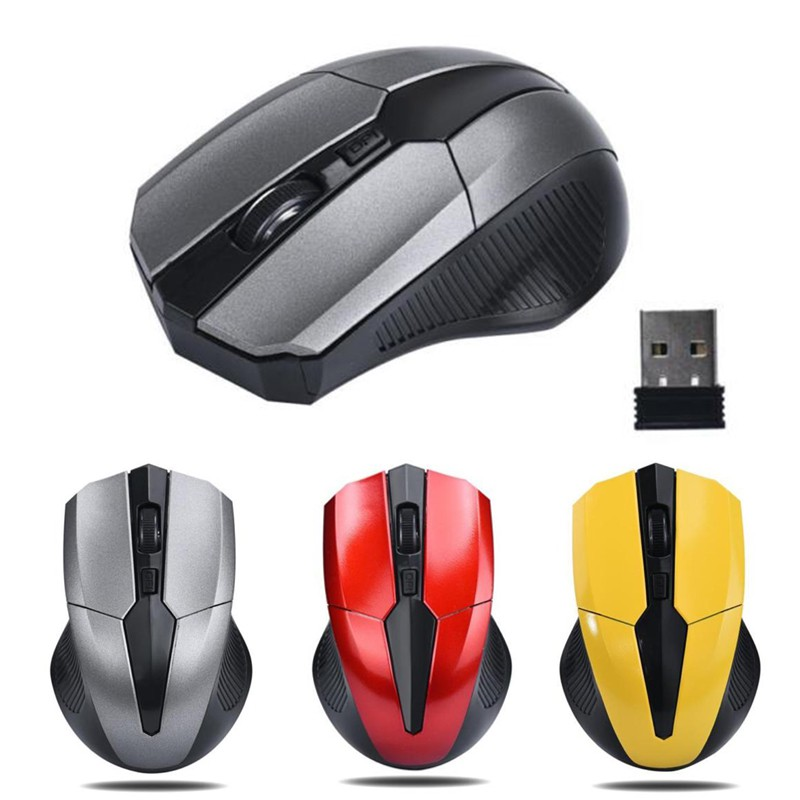 Sunny Mouse Gaming Optical Wireless 2.4Ghz dengan Receiver USB untuk PC / Laptop