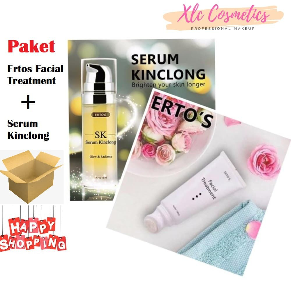 Ertos Original Paket Facial Treatment Serum Kinclong Nigt Cream Pemutih Wajah Kpw 146 Shopee Indonesia