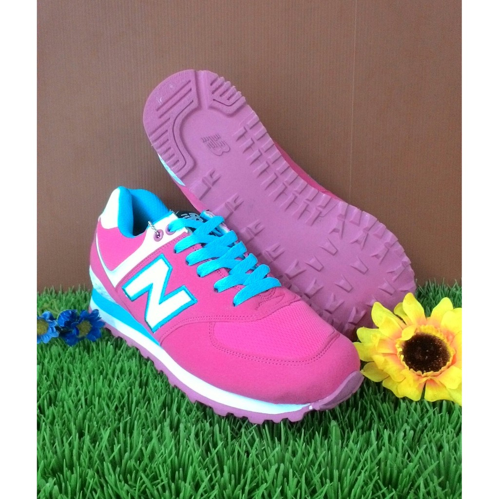sepatu new balance pink blue cewek  16f8097069