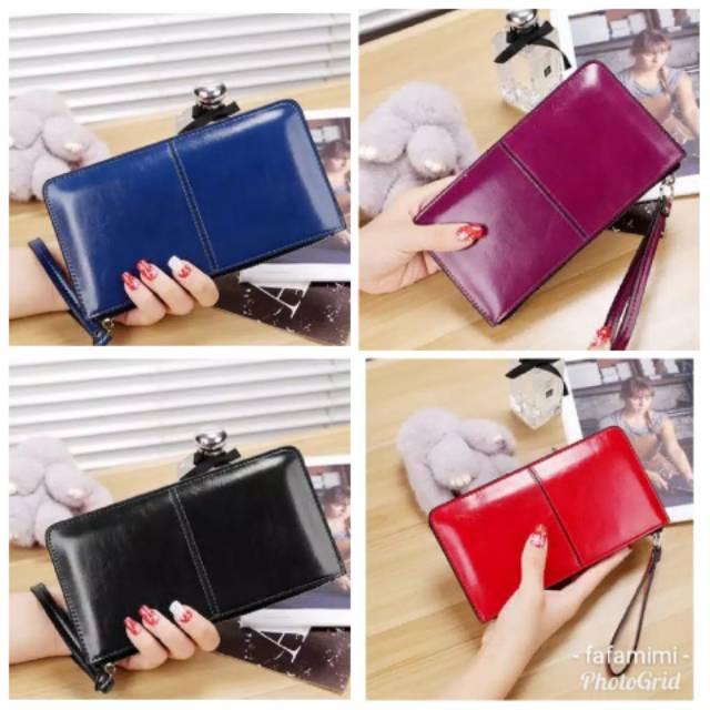 Dompet wanita bahan kulit imitasi