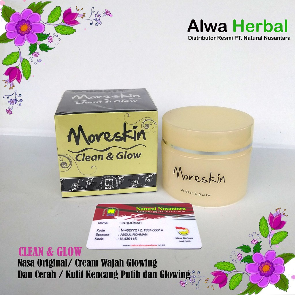 Moreskin Clean And Glow Shopee Indonesia Cream