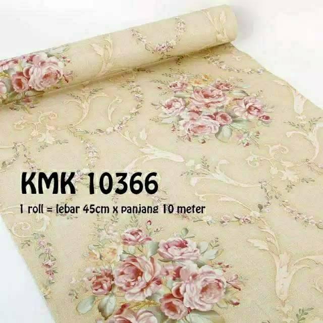 Wallpaper Dinding Shabby Cream 3d 10meter