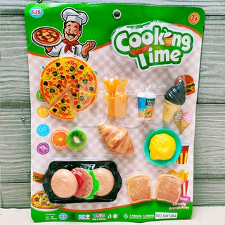 Mainan Anak Cooking Time Masak Masakan Burger Pizza Roti Ice Cream Susun Stacking Burger Shopee Indonesia