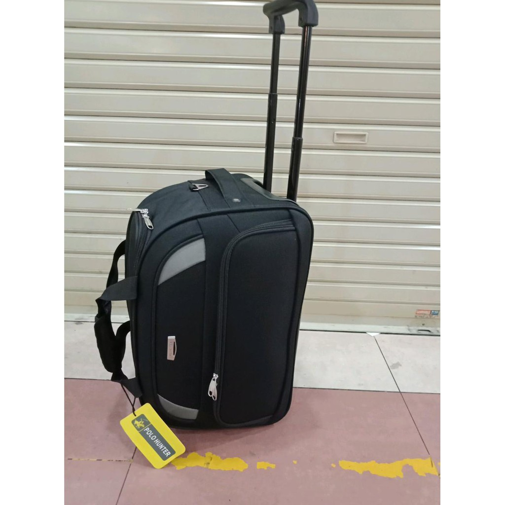Polo Hunter Tas Kabin Trolley - Duffle Bag with Trolley 593 - 19 inch    Shopee Indonesia b5c3e87bba