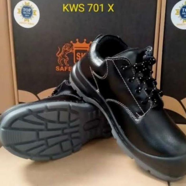 Sepatu Safety Kings KWS 701X Original Sepatu Sefty Septi Sefti King Kerja Pria Ujung Besi Kulit Asli