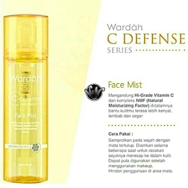 Wardah C Defense Face Mist Wardah Face Mist Setting Spray Face Mist Wardah Kosmetik Makeup C Defense Shopee Indonesia