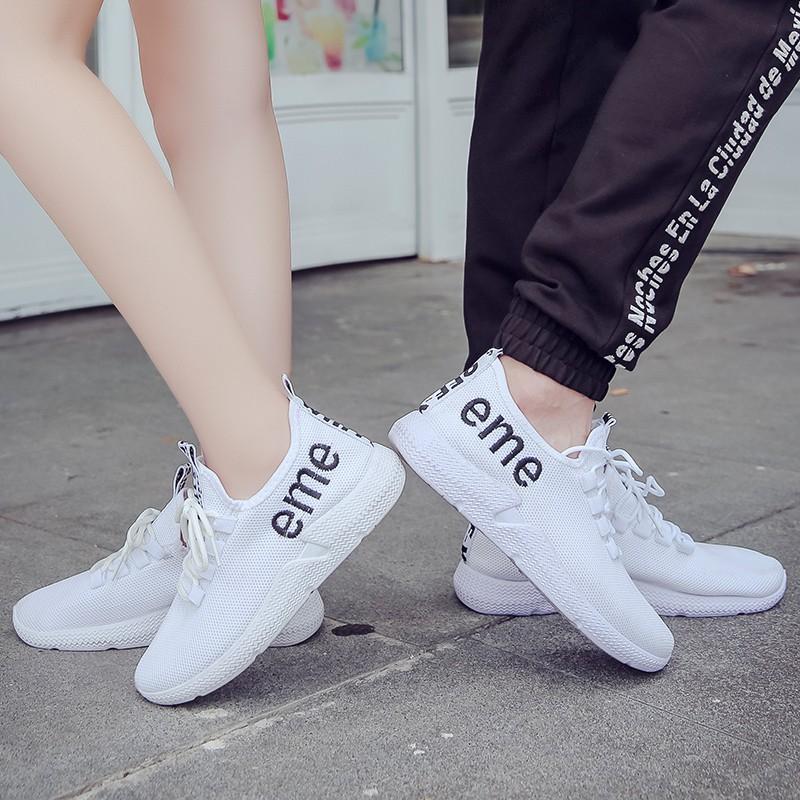 Sepatu Sneakers Casual Warna Putih Untuk Pasangan Shopee Indonesia
