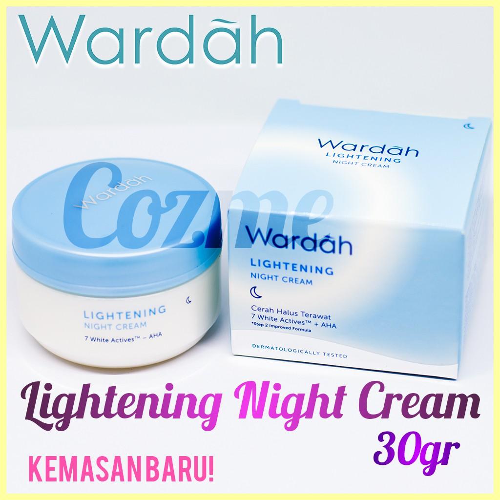 Beli Wardah Lightening Night Cream Harga Lebih Murah Bersama Teman Paket Kosmestik Step 2 Series Shopee Indonesia
