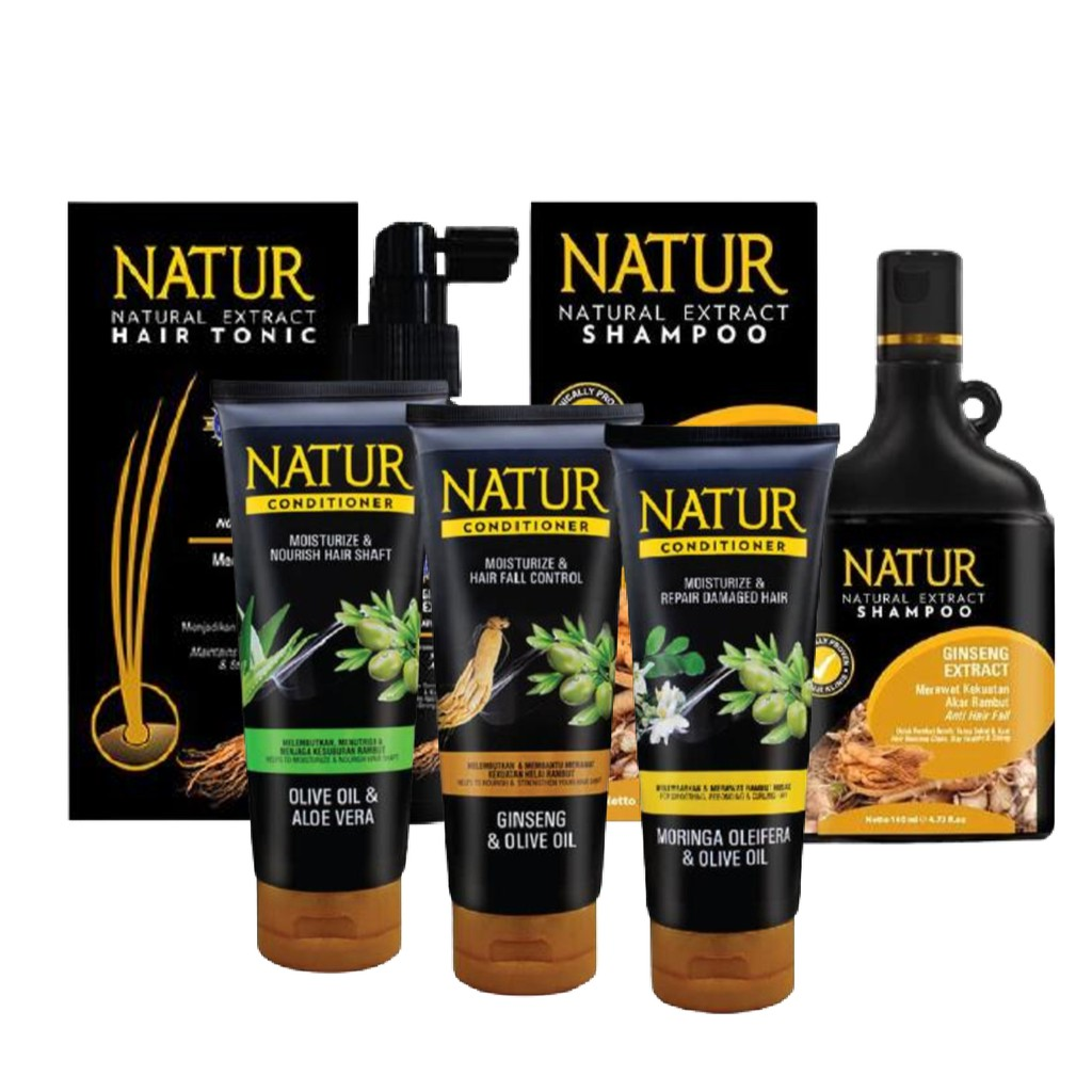 NATUR Hair Treatment / Shampoo / Conditioner / Hair Tonic