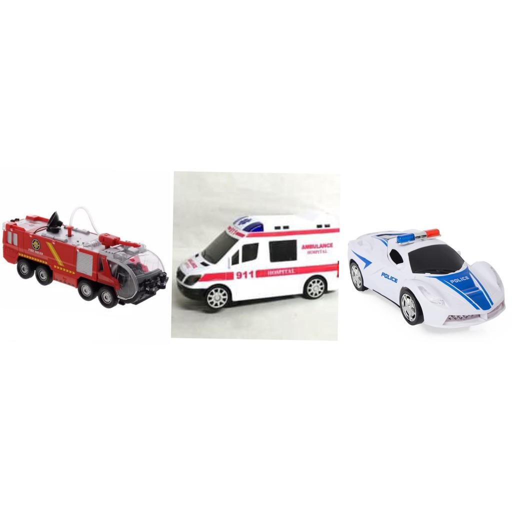 Mainan Mobil Pemadam Kebakaran Ambulan Polisi Beneran Keluar Air Firemen Fire Squad Shopee Indonesia