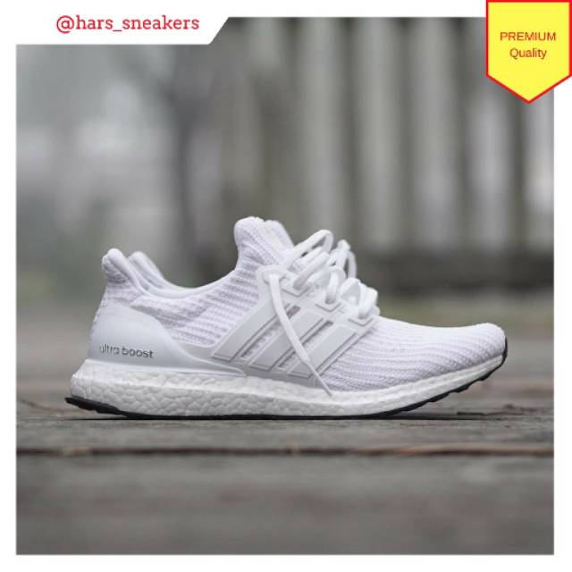 1857eca08d7c8 Sepatu Adidas Ultra Boost 4.0 Triple White Premium Quality