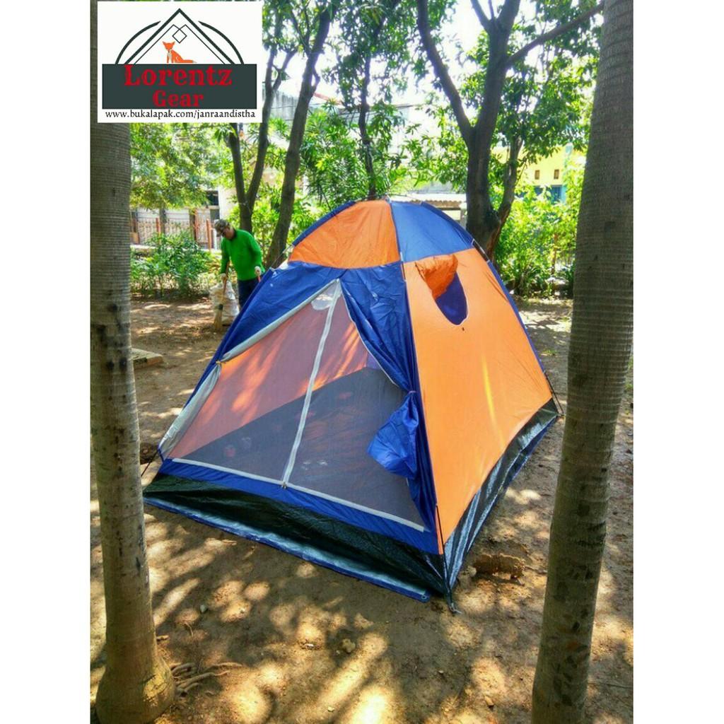 Tenda Dome Camping Hyu Double Layer 4 5 Person Plus Pasak 10 Buah Pramuka Regu Kapasitas Siswa 8 Dewasa Bahan Dakota Shopee Indonesia