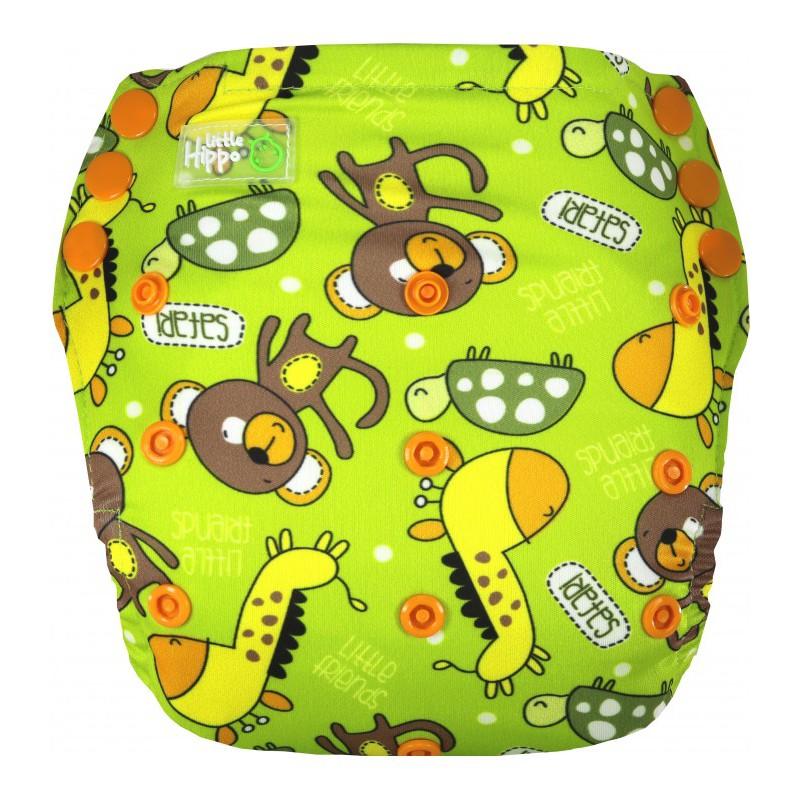 Little Hippo TeenyFit Newborn Size Motif Sweet Apple Clodi Popok Bayi + 2 Insert Microfiber |