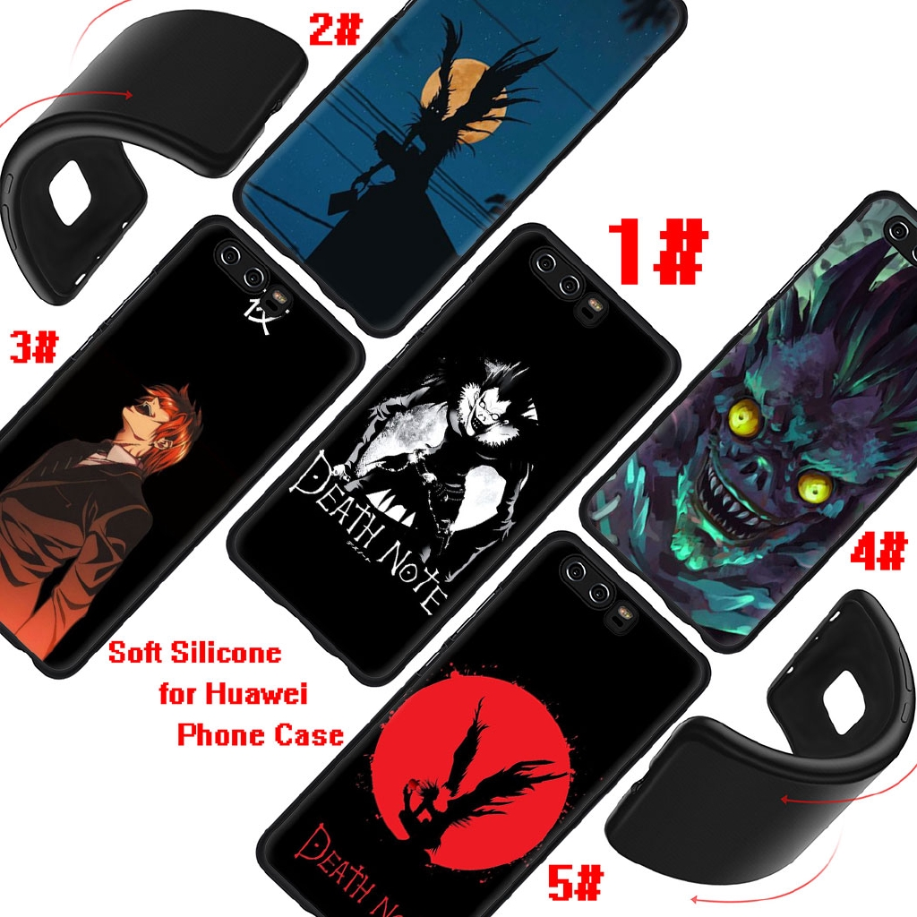 Soft silicone phone Case for Huawei P8 P9 P10 Lite Mini P20 Cover Death Note Kira