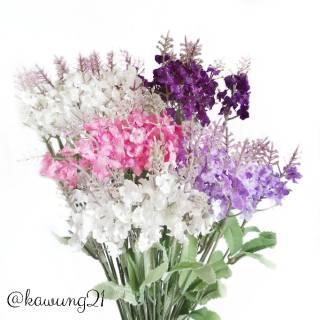 af11 bunga lavender artificial tanaman hias plastik cantik