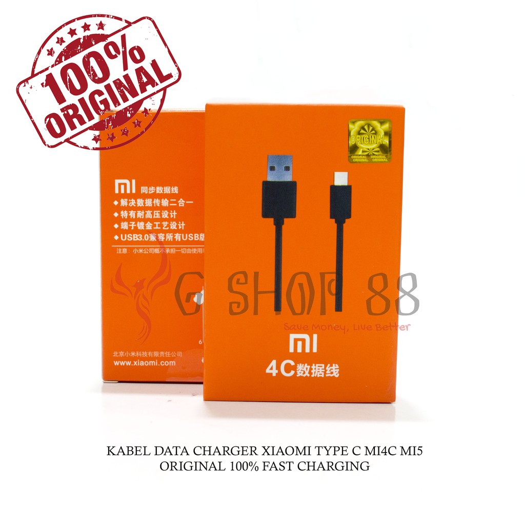Kabel Data Charger Xiaomi Usb Type C 2a Original Mi4c Mi 4c Tipe Mi5 Mimix Pad 2 3 Redmi Pro 5 Shopee Indonesia