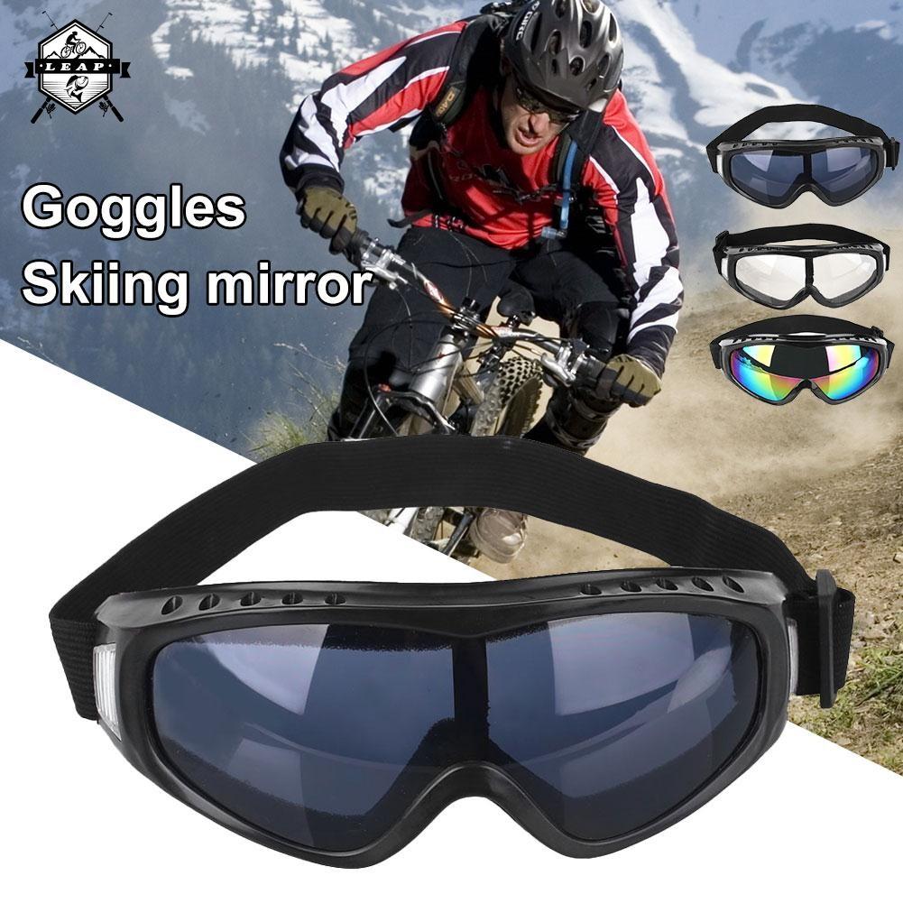 Kacamata Goggle Ski Tactical Sepeda Motor Pelindung Mata Lensa Wide UV Kacamata Motor Ski | Shopee