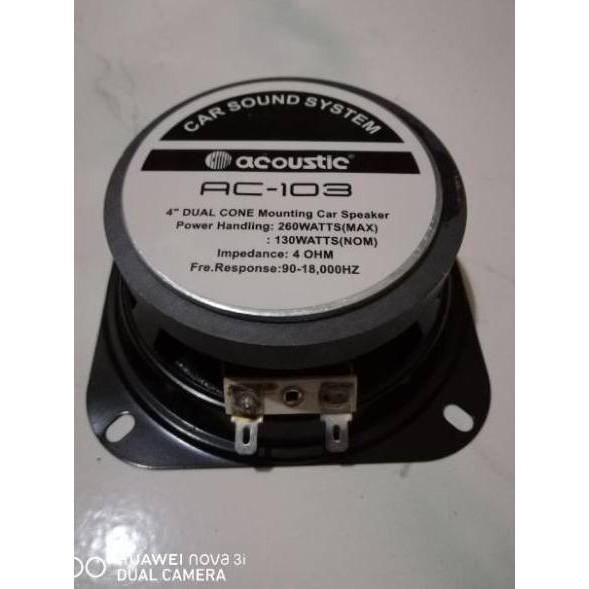 "̄ HQN Speaker woofer 4inch 4in acoustic / speaker mobil acoustic 4"" 260watt ✱"