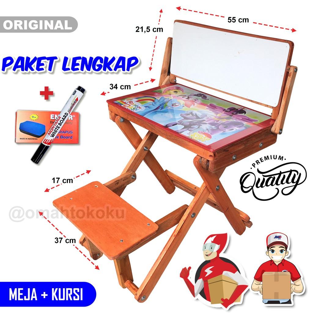 Meja Belajar Lipat Anak Kursi Bangku Kayu Minimalis Serbaguna Whiteboard Kirim Via Jne Sicepat Shopee Indonesia Harga meja belajar lipat anak