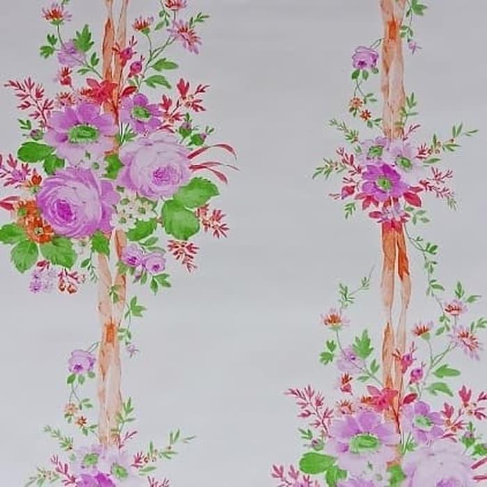 Grosir Murah Wallpaper Stiker Dinding Bunga Mawar Pink Di Nganjuk