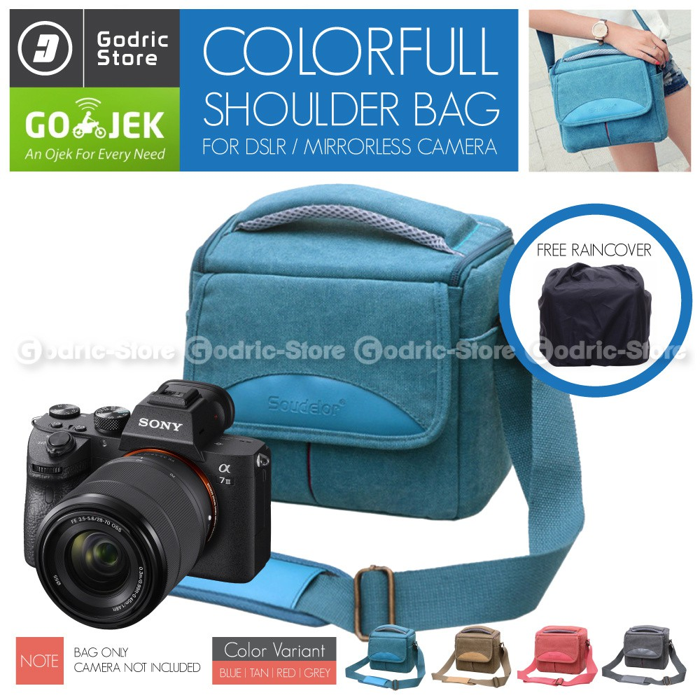 TAS KAMERA LEATHER PATCH NATGEO DSLR/MIRRORLES (HITAM) | Shopee Indonesia