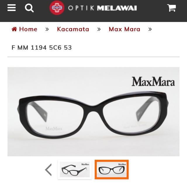 Kacamata MaxMara by Optik Melawai (preloved) BELI FRAME GRATIS LENSA  (SPECIAL PRICE c3208caa50