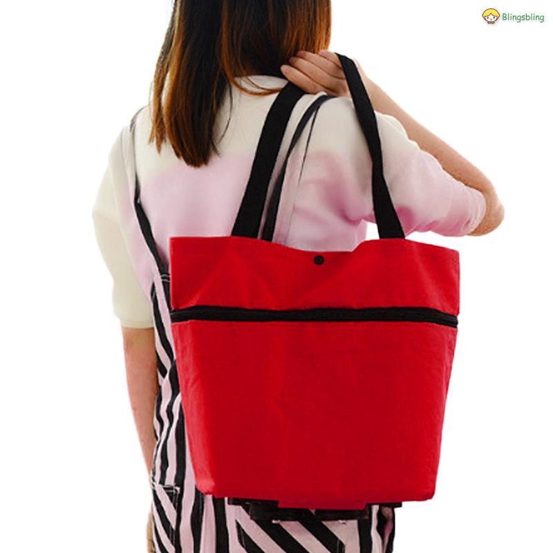 Eco Shopping Travel Shoulder Bag Oxford Cloth Portable Hand-held Reusable Bags