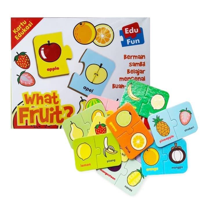 Edu Fun What FRUIT - Kartu Edukasi Buah Puzzle Kartu Mainan ...