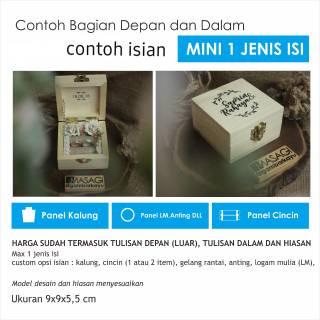 Ringbox Mini/ Ringbox kayu /ringbox / ring box / kotak ...