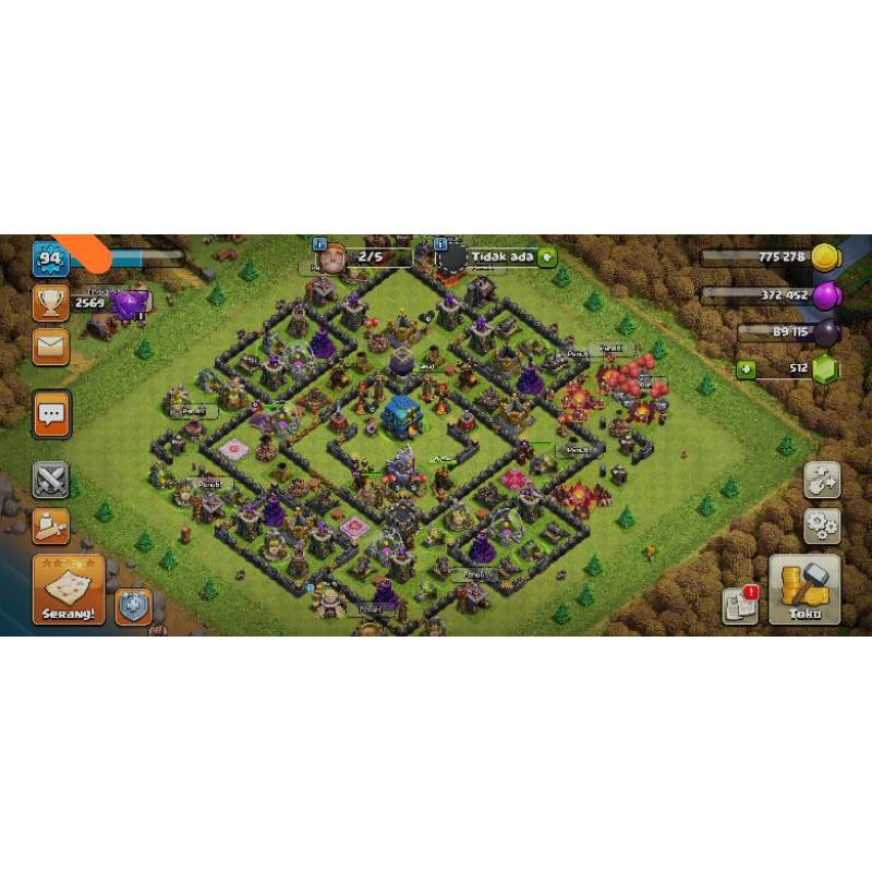 Akun Clash Of Clan Th 12 Level Hero 15 25 7 Gratis Ganti Nama Shopee Indonesia