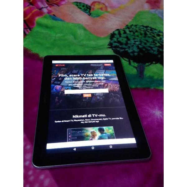 Tablet Tab Samsung 10.1 inchi Android Nougat mulus bukan xiaomi mi pad 4 poco x3 pro bekas second
