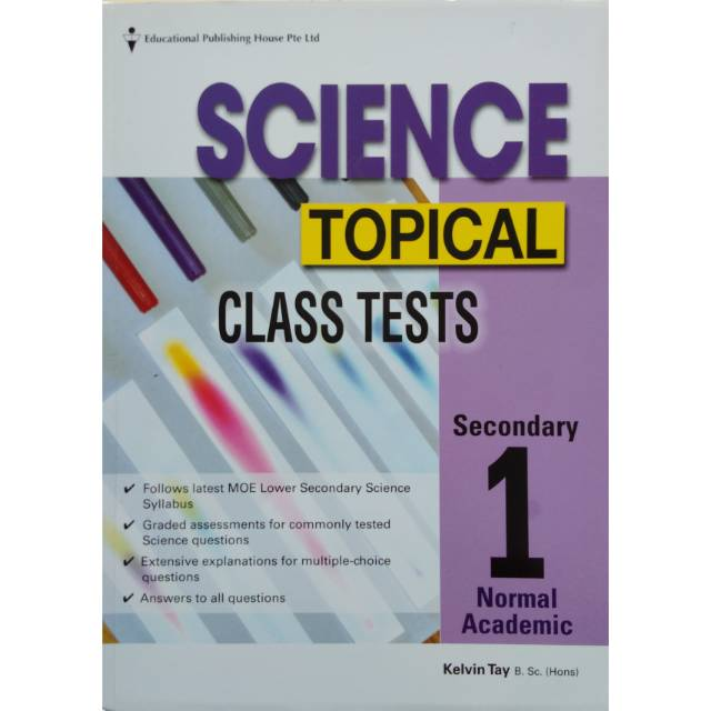 Science Topical Class Tests Secondary 1 Normal Academic