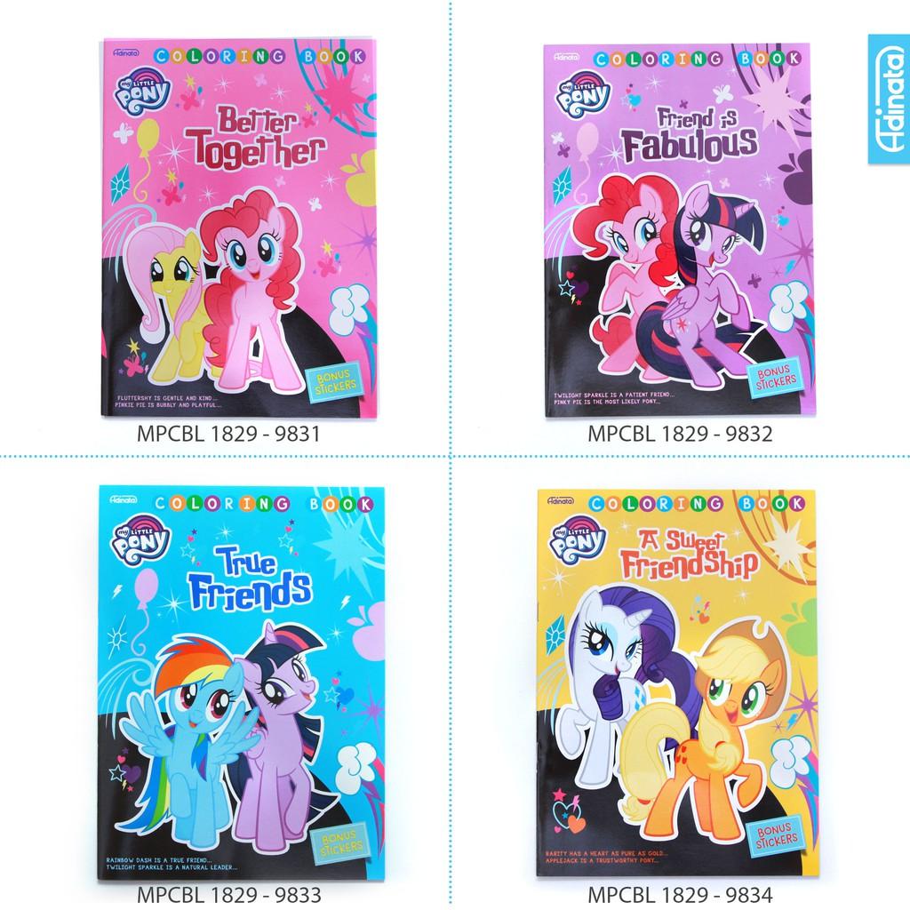 My Little Pony Friend Coloring Book L Adinata Buku Mewarnai Anak Shopee Indonesia