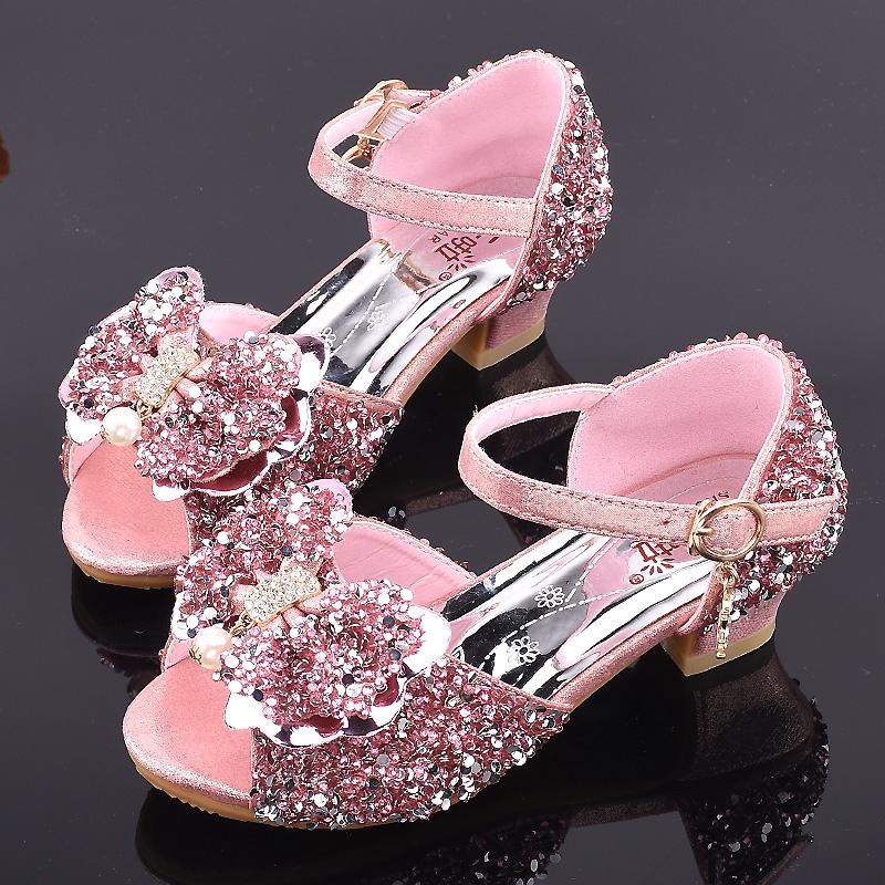 2020 Gadis Baru Sandal Putri Sepatu Gadis Kecil Sepatu Kristal Anak Heels Model High Catwalk Menunju Shopee Indonesia
