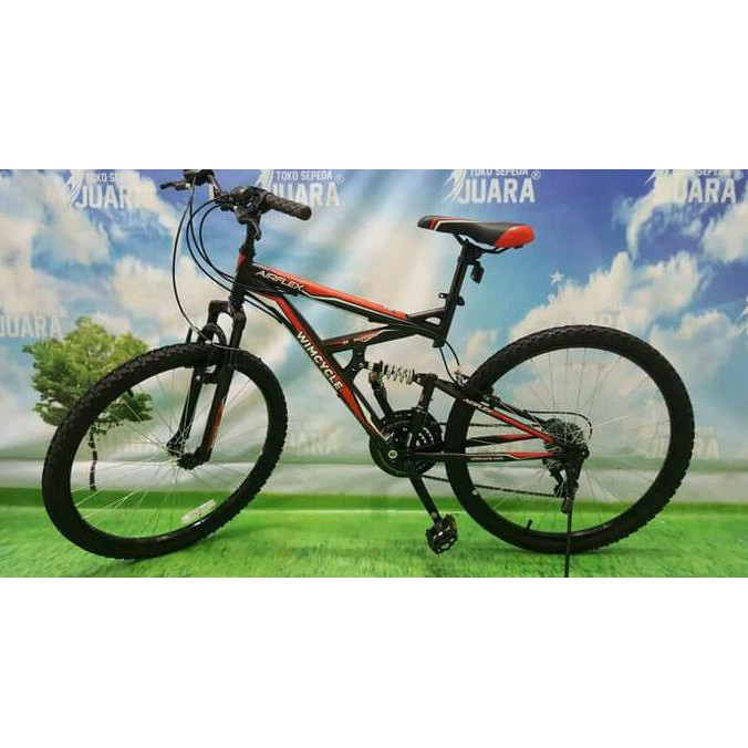 Cuci Gudang Wimcycle Airflex X2 Dual Suspension Sepeda Mtb 26 Inci Gunung Shopee Indonesia
