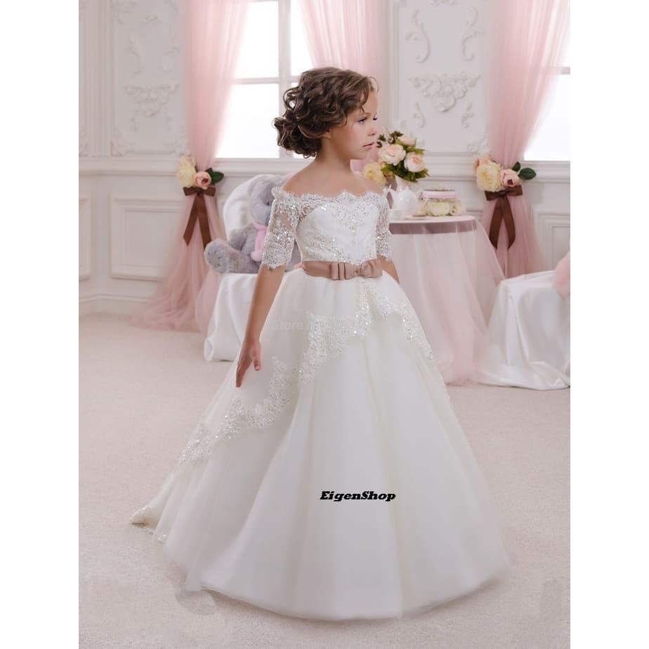 Gaun Pengantin Anak 9A Putih Wedding Gown Wedding Dress