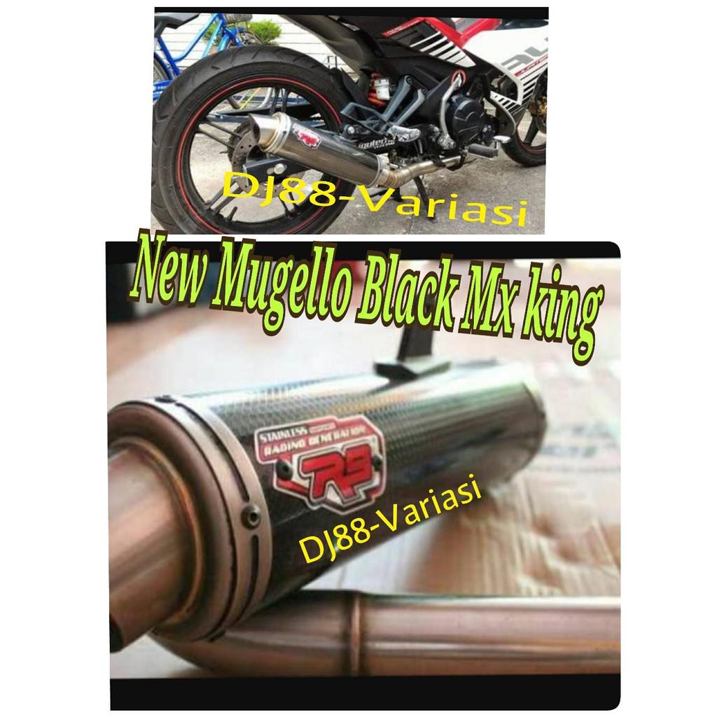 Knalpot R9 Assen Black Mx King Shopee Indonesia Full System New Mugello Klx 150 All Type