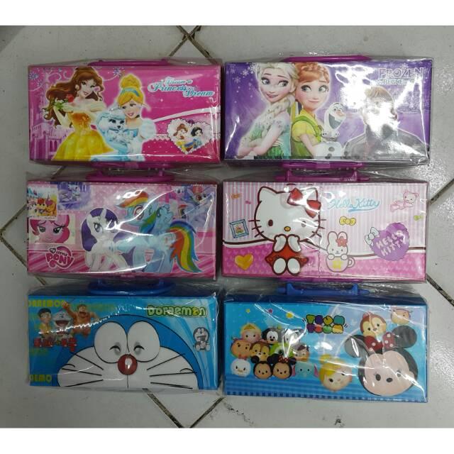 Tempat Pensil Kode Hologram Kitty Frozen Pony Tsum Tsum Doraemon Princess | Shopee Indonesia